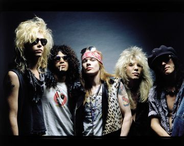 Duff McKagan, Slash, Axl Rose, Steven Adler e Izzy Stradlin, la formación clásica de Guns N' Roses.