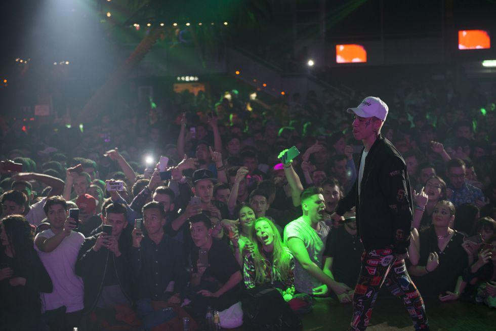 D. Gómez AKA Kaydy Cain en un momento de su actuación del pasado 22 de enero en La Riviera (Madrid).