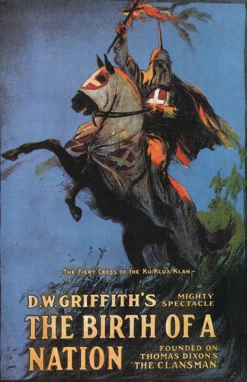 Cubierta del libro 'The birth of a nation' (1915), de D.W. Griffith.