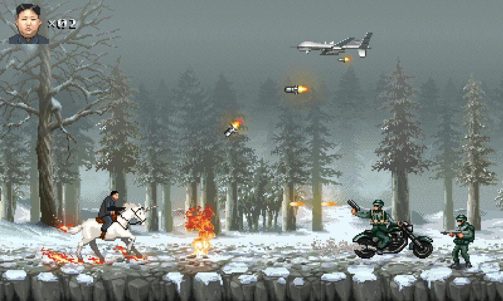 Kim Jong-Un a lomos de un unicornio en el videojuego 'Glorious Leader!'