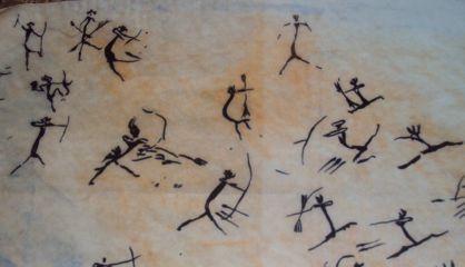 Representación de los arqueros de la cueva del Civil (Castellón).