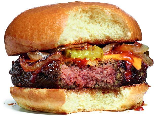 Burger 100% vegetariana libre de remordimientos caníbales.