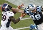 Danny Trevathan, de los Broncos de Denver y Greg Olsen, de los Panthers de Carolina.