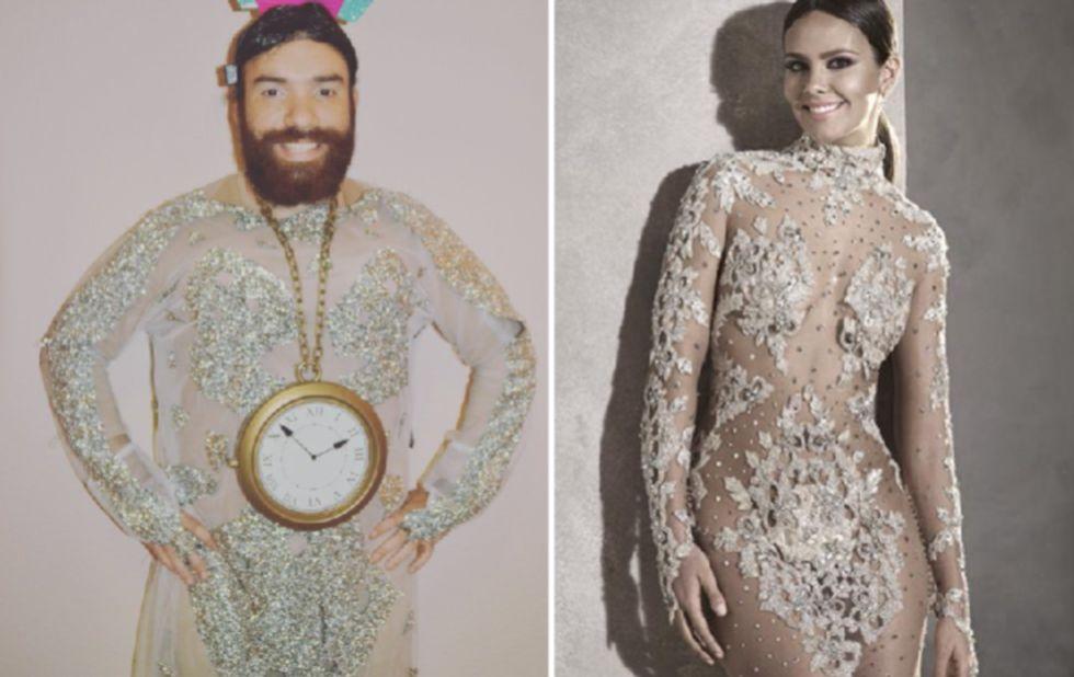Disfraz de vestido de las campanadas de Cristina Pedroche
