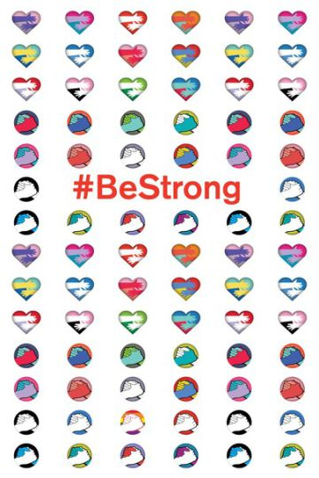 Emoticones #BeStrong.