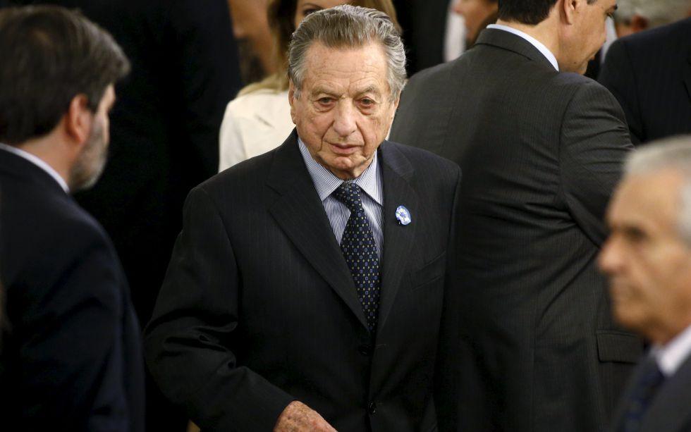 Franco Macri, padre del presidente argentino, en la casa rosada.