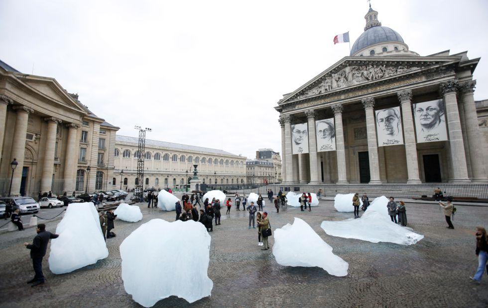 Instalación del artista Olafur Eliasson en París durante la COP21.