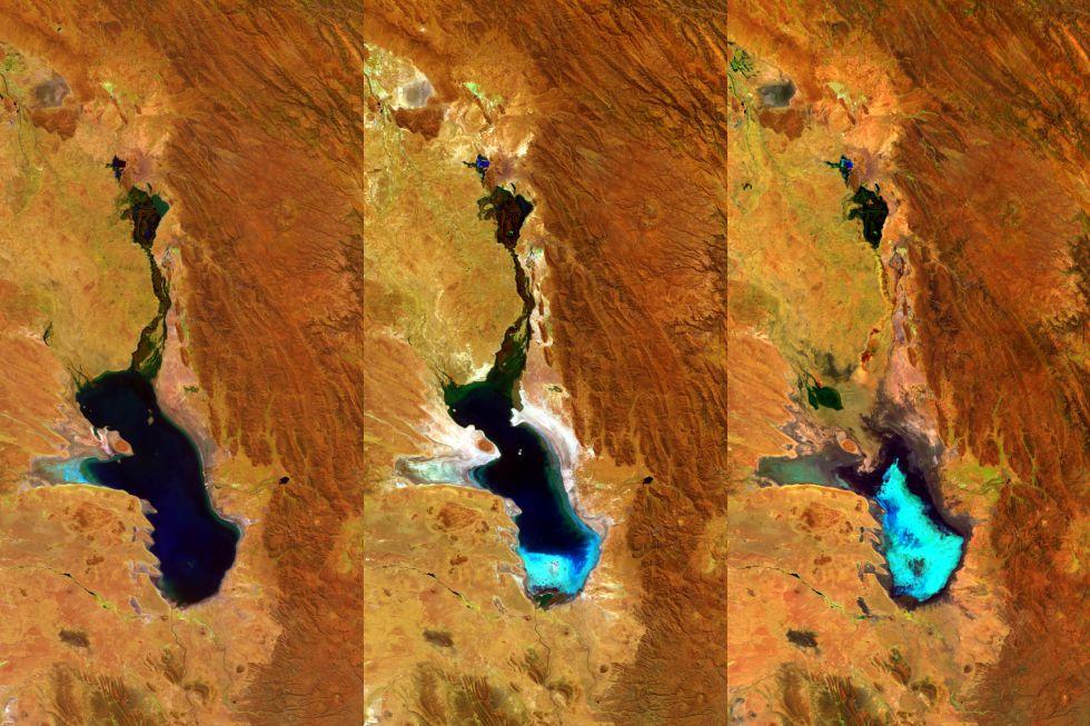 El lago Poopo de Bolivia