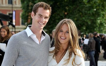 Andy Murray y su esposa Kim Sears.
