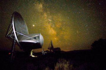 Una de las antenas de SETI, dedicado a la búsqueda de vida extraterrestre.