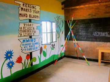 Mural en una escuela.