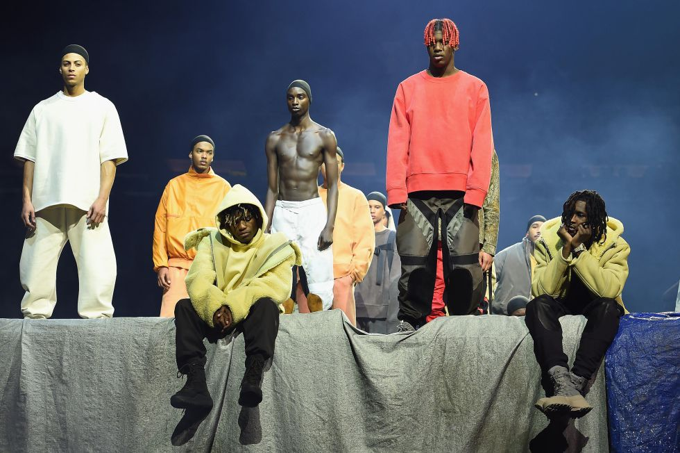 Modelos de 'Yeezy 3' presentados ayer en el Madison Square Garden.