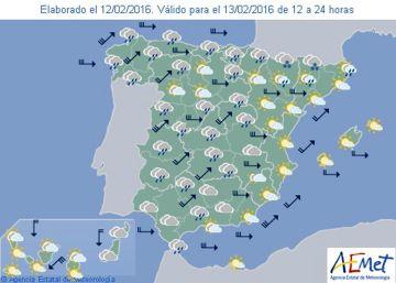 Brusca bajada de temperaturas en la Península a partir del domingo