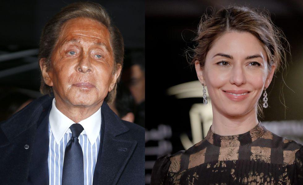 El diseñador Valentino y la cineasta Sofia Coppola.