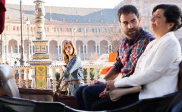 María León, Jon Plazaola y Ane Gabirain, en una imagen de 'Allí abajo'.