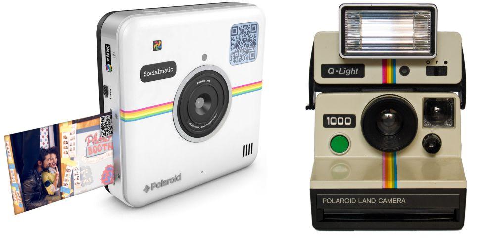 Dos modelos de Polaroid: el actual y, a la izquierda, el 'vintage'.