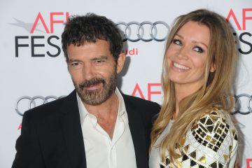 Antonio Banderas y Nicole Kimpel en el estreno de la película 'Los 33' el pasado noviembre.