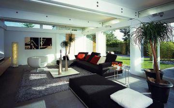Interior de uno de los prototipos de vivienda fabricado por Huf Haus.