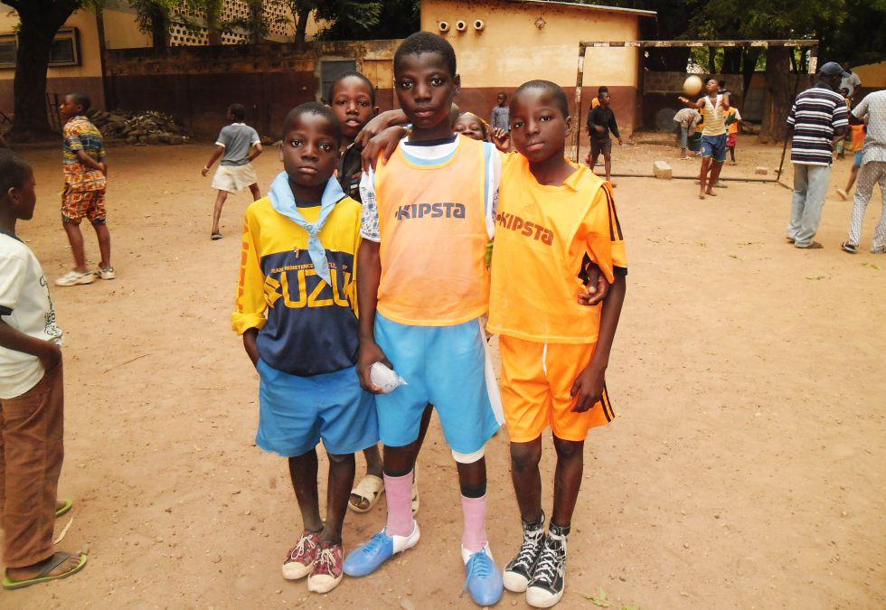 Niños en el centro de Don Bosco de Benín.