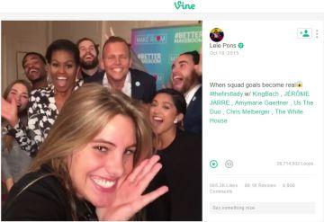 Michele Obama, una más en el 'selfie'.