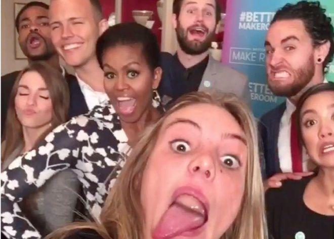 Michele Obama: reina del 'selfie', emperatriz del Vine y Primera Dama de Estados Unidos.