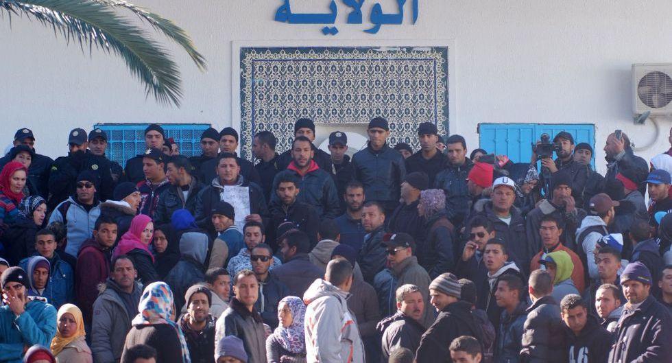 Protesta a mediados de enero en Kasrine.