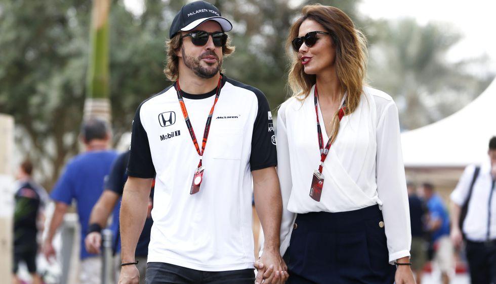 Fernando Alonso y Lara Álvarez.