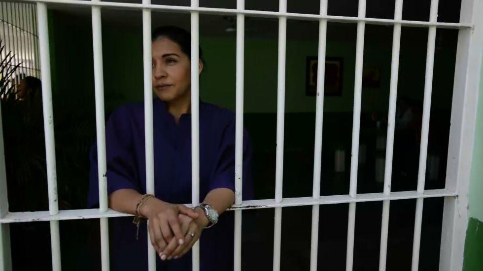Yecenia Armenta, en la prisión de Sinaloa.