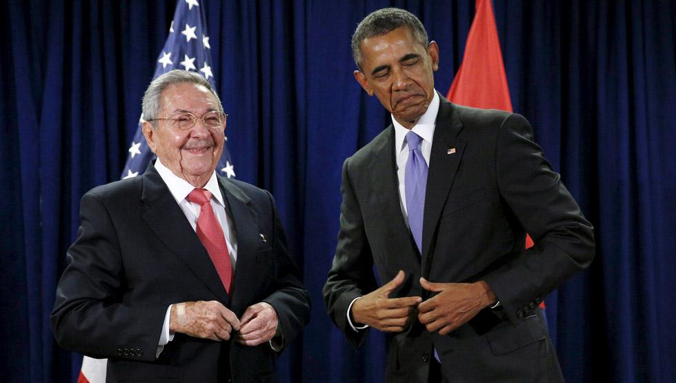 Obama y Raúl Castro en su encuentro en Nueva York del pasado septiembre.