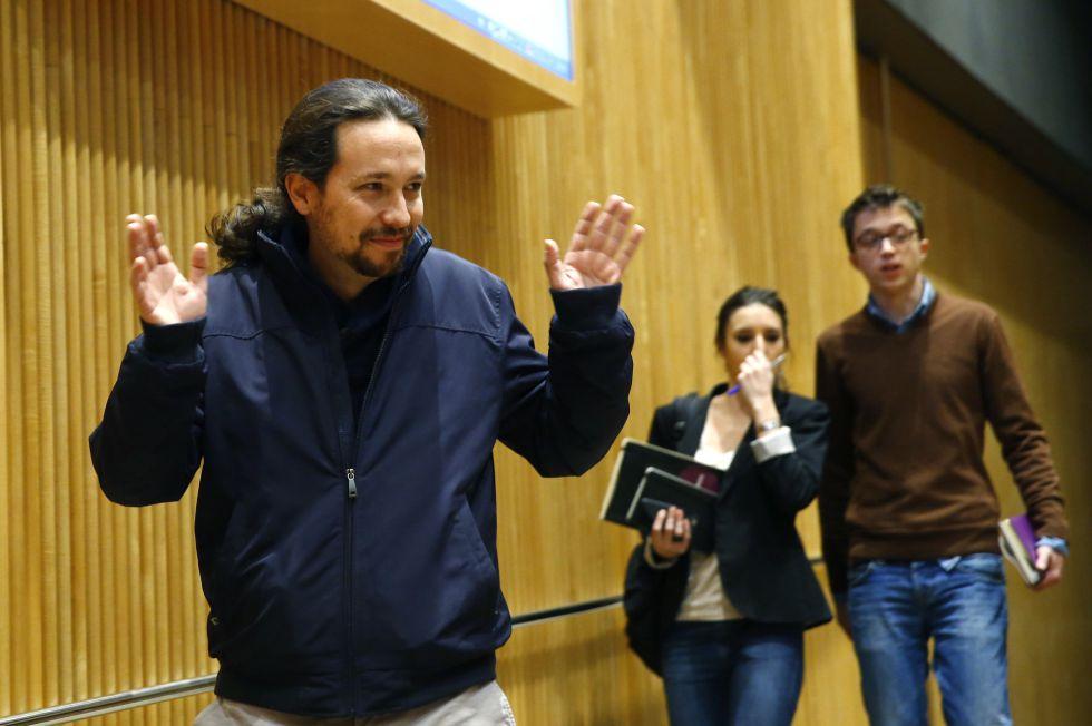 El líder de Podemos, Pablo Iglesias, en el Congreso de los Diputados.