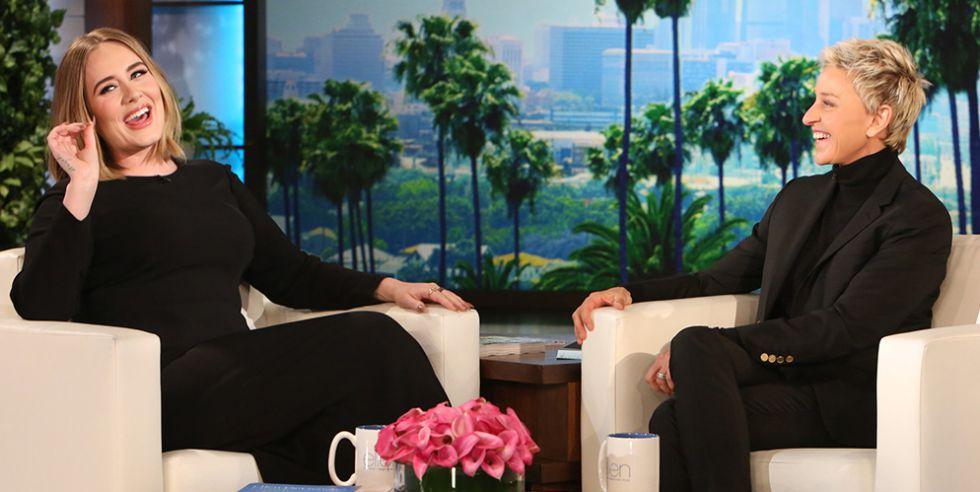 Adele en el programa de Ellen DeGeneres.