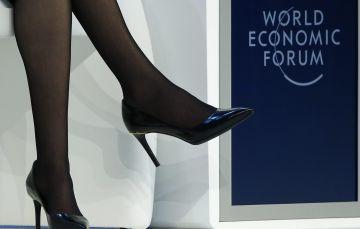 Los zapatos de Sandberg, en la última cumbre de Davos.
