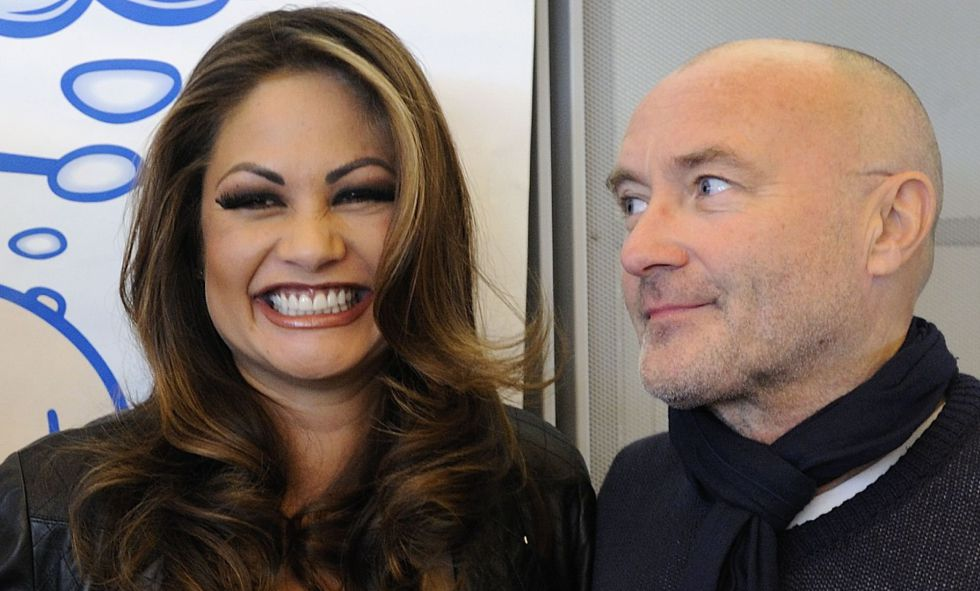 Phil Collins y Orianne Cevey