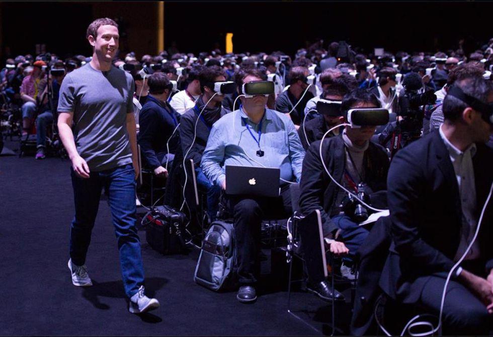 Mark Zuckerberg  durante el Congreso Mundial de Móviles de Barcelona