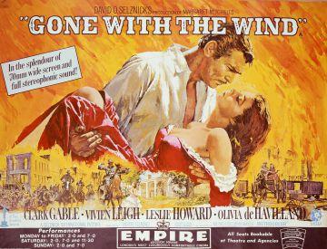 Cartel de la película 'Lo que el viento se llevó'.