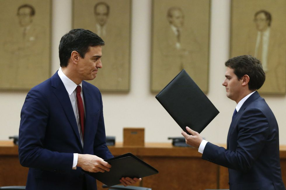 Acuerdo PSOE y Ciudadanos