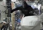 Así se divierte el astronauta que lleva un año en el espacio