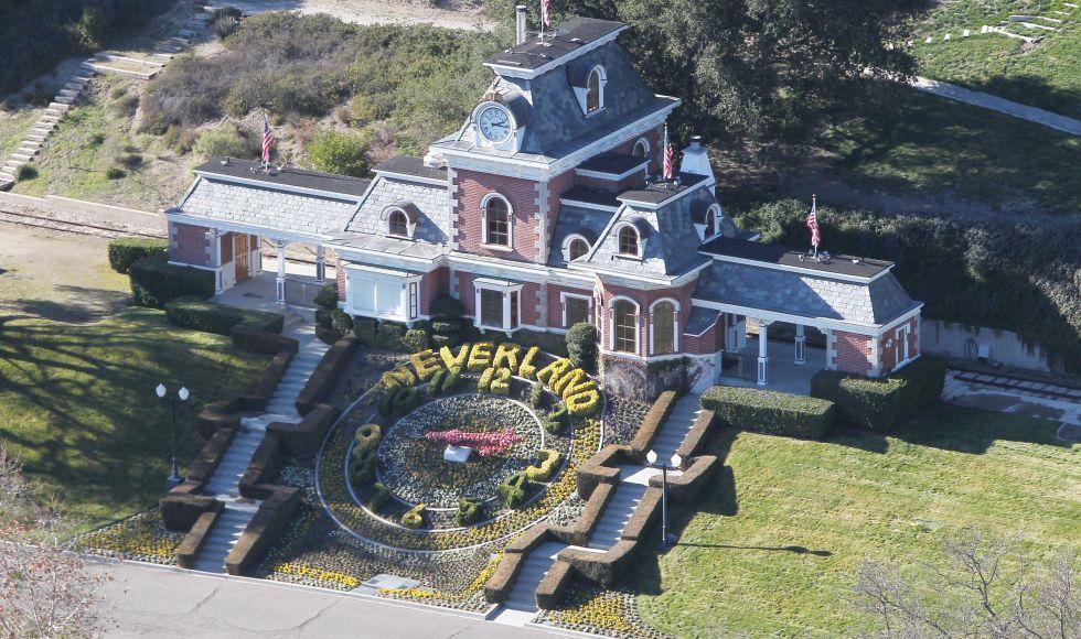 Casa principal del rancho Neverland.
