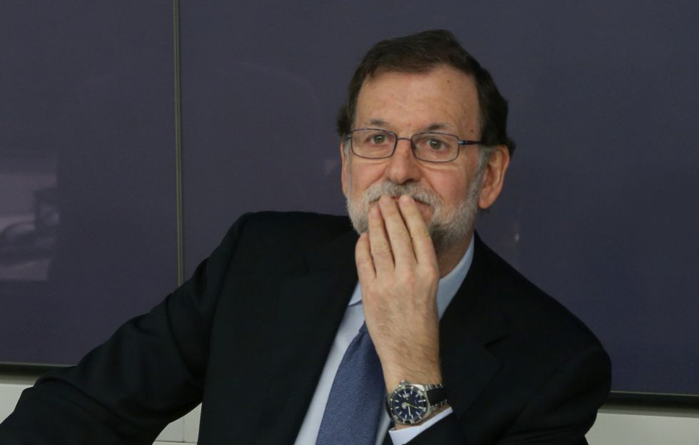 Rajoy during a meeting of the Popular Party National Executive Committee on Monday.