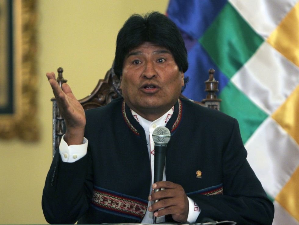 El presidente de Bolivia, Evo Morales, durante la conferencia de prensa del 24 de febrero en la que reconoció su derrota en el referéndum.