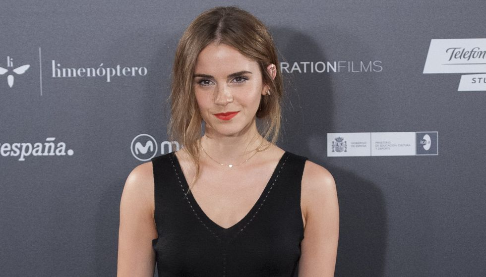 Emma Watson en la presentación de la película 'Regresión'.