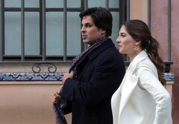 Francisco Rivera y Lourdes Montes, en diciembre de 2015 en Sevilla cuando el matador recibió la Medalla de la Bellas Artes.