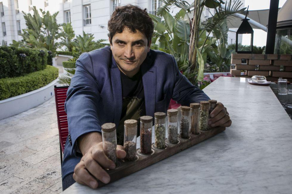 Mauro Colagreco, el único chef argentino con dos estrellas Michelin, en su visita a Buenos Aires el pasado jueves.
