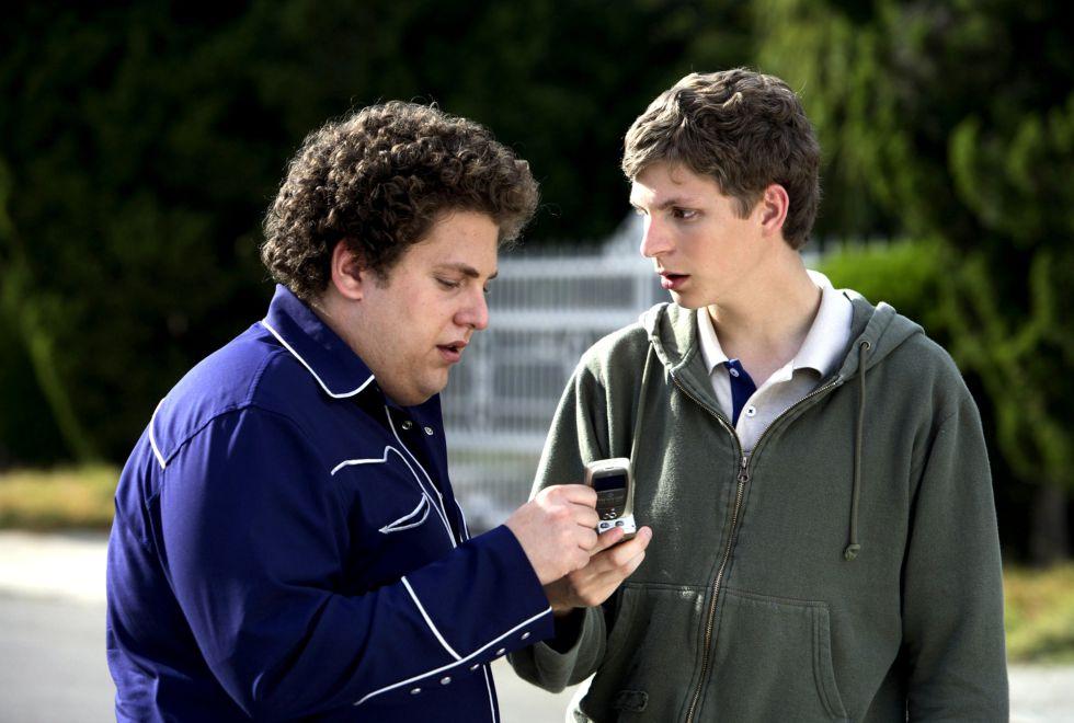 Jonah Hill y Michael Cera haciendo de las suyas en 'Supersalidos' (2007).