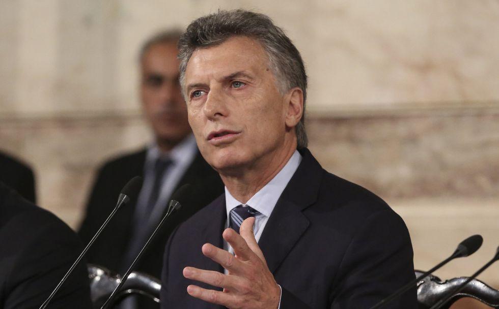 El presidente de Argentina, Mauricio Macri, durante un discurso parlamentario este martes.