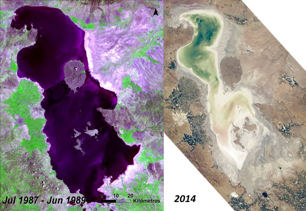 Imagen de satélite. Fuente: USGS (United States Geological Survey), visualización por UNEP GRID Sioux Falls.