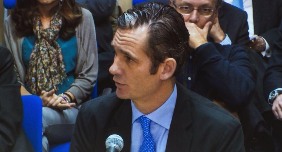 Iñaki Urdangarin in the Palma de Mallorca courtroom on Wednesday.