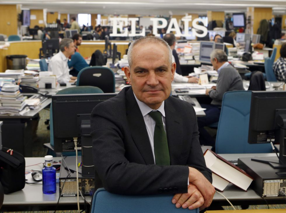 Antonio Caño, pictured in the EL PAÍS newsroom.