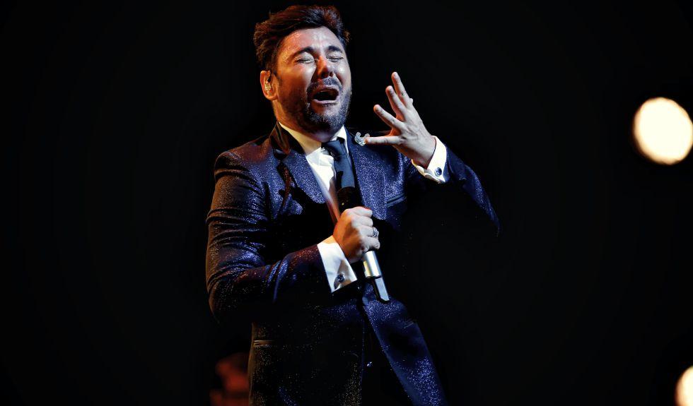 El cantaor Miguel Poveda, durante un concierto el junio pasado en Madrid.