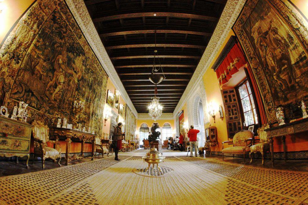 El salón de la gitana, en el Palacio de Dueñas, en Sevilla.